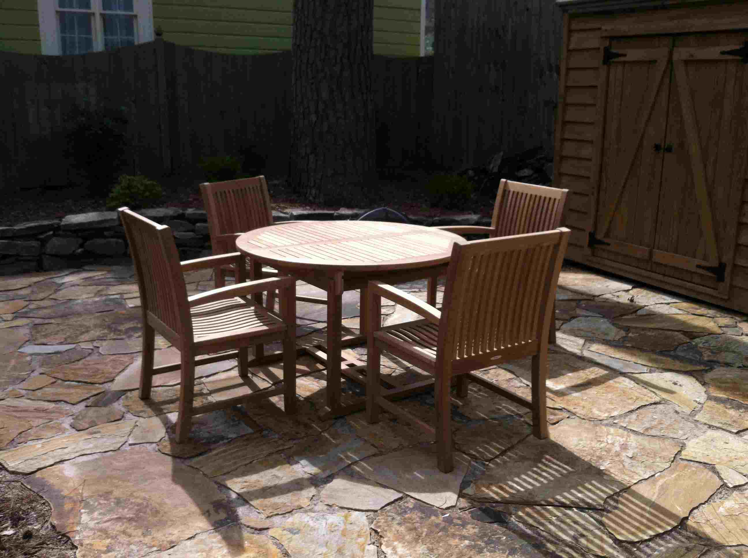 Teak Chairs And Table By Atlanta Teak Furniture