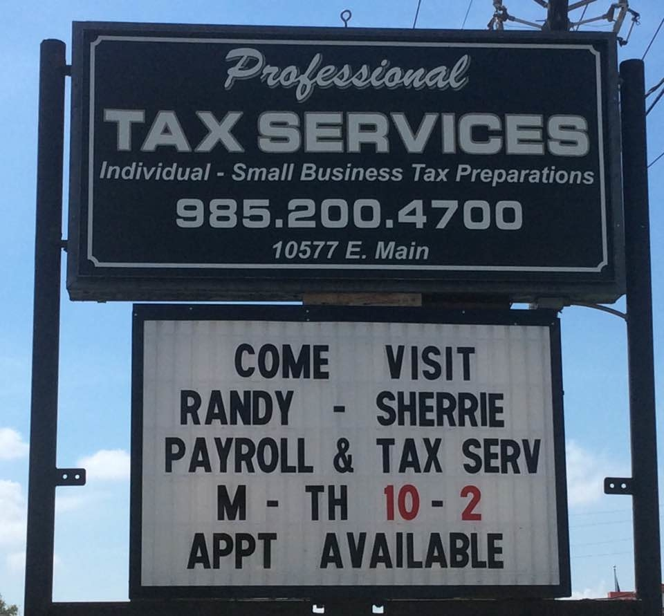 Professional Tax Services Of Louisiana Llc Houma La