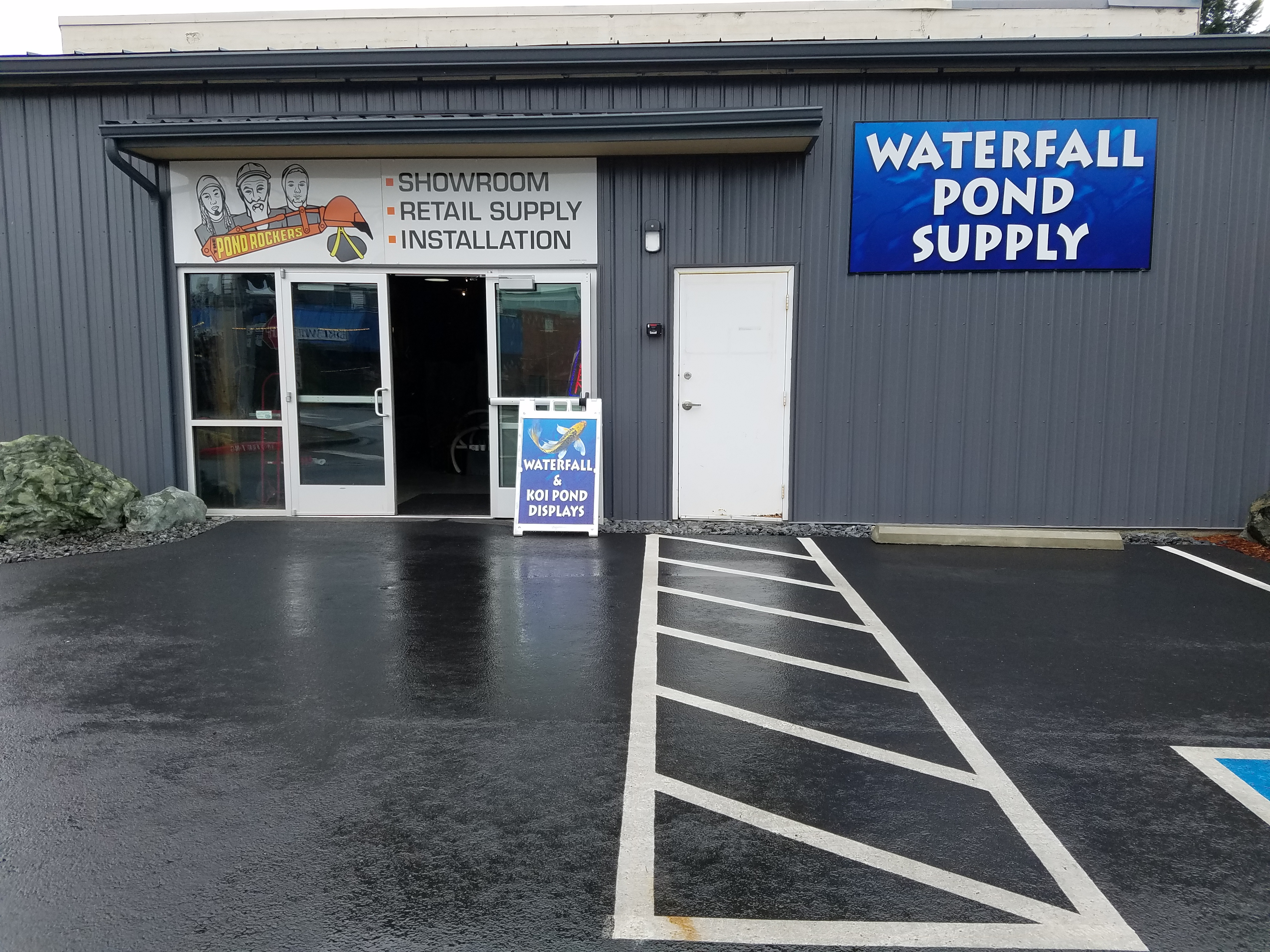 Waterfall pond supply of wa in mount vernon wa 360 for Local pond supplies