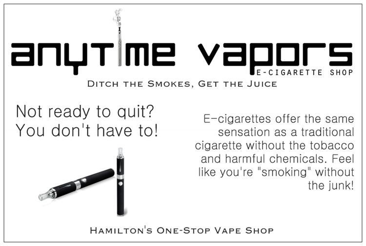 Anytime Vapors 413 Barton St E Hamilton, ON Electronic Cigarettes