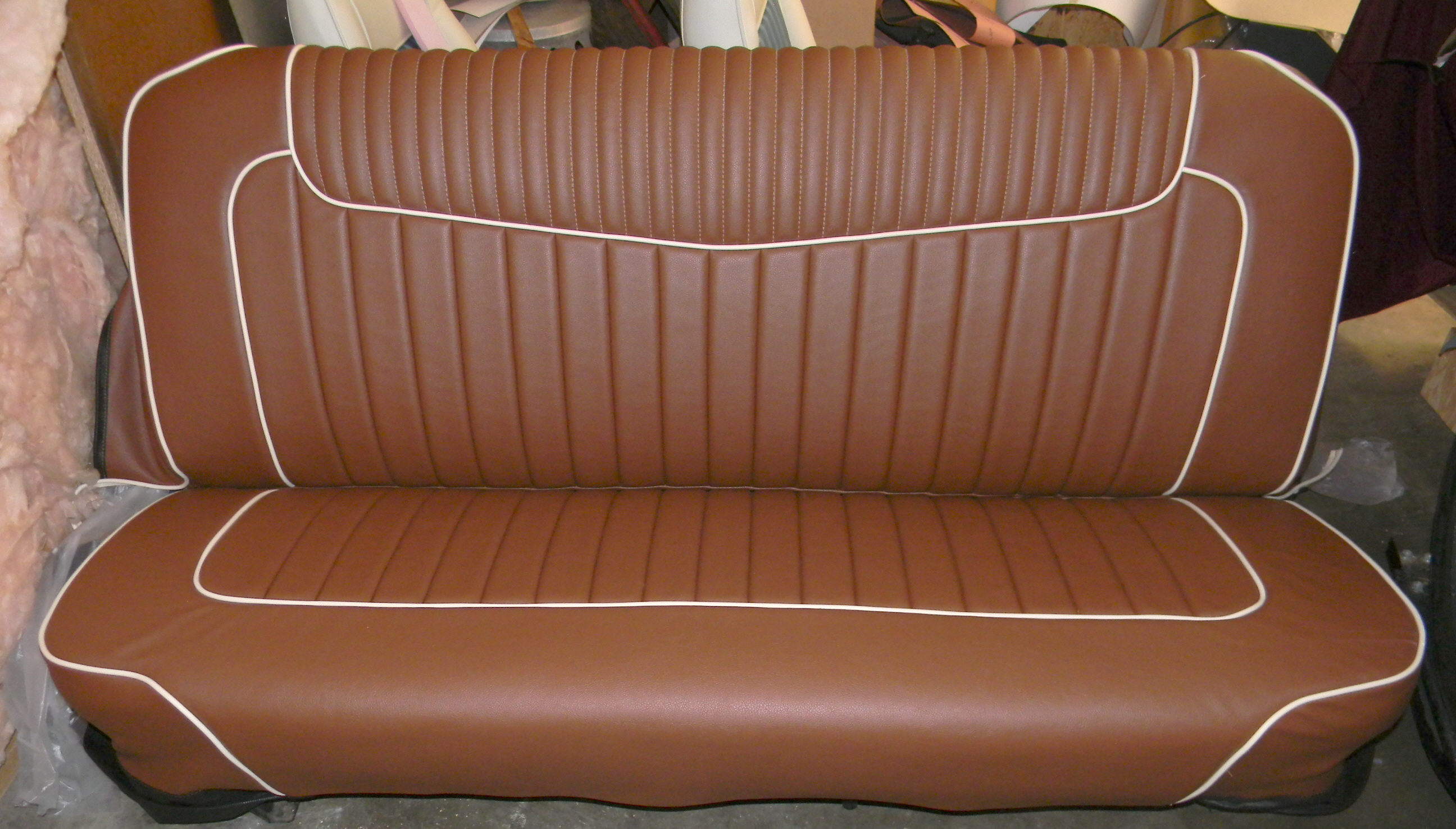 Chevy truck seat cover large v bar https www ricksupholstery com truckseatcovers html