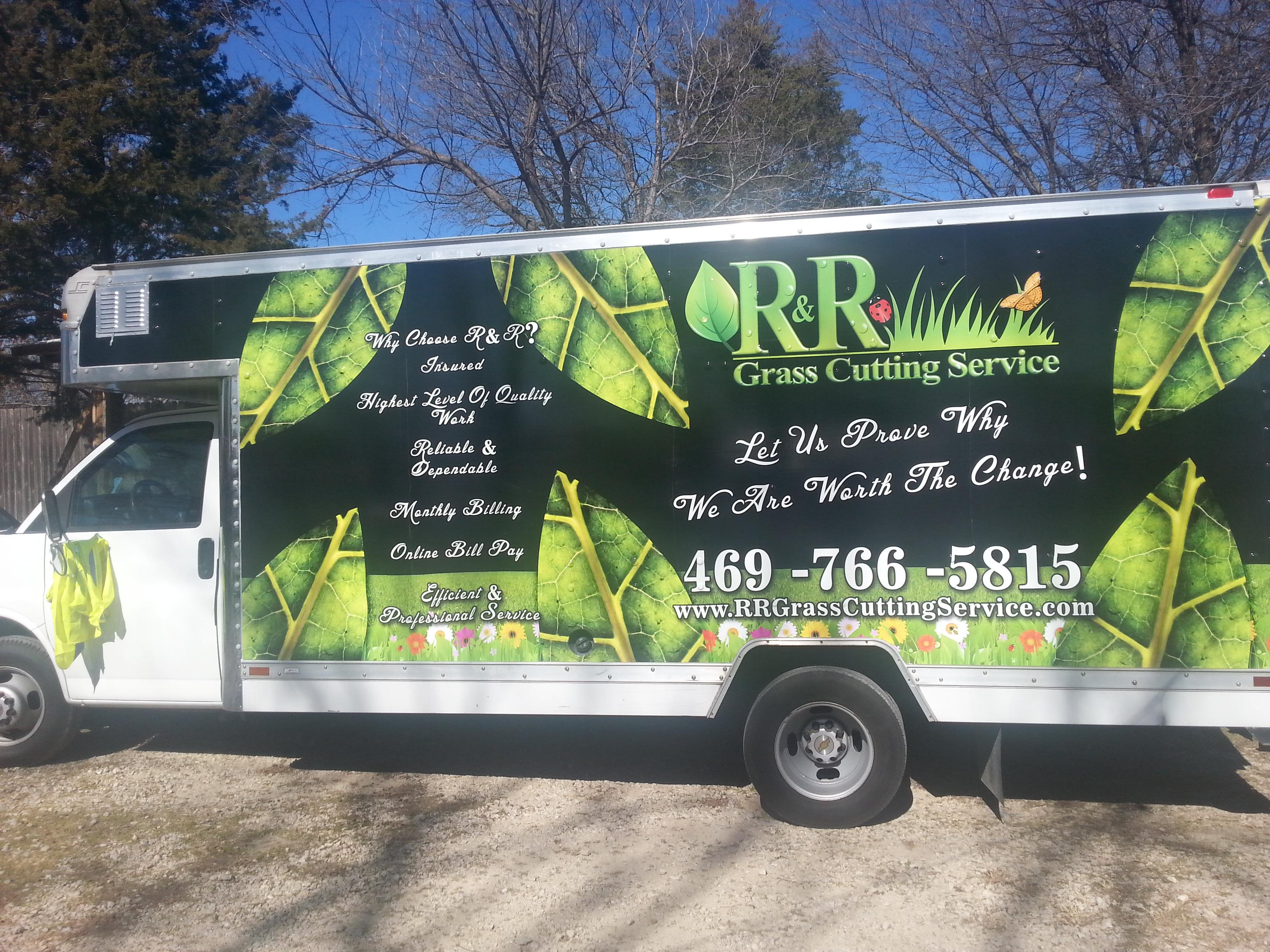 All R&R Trucks are all branded, so you always know who servicing your lawn.