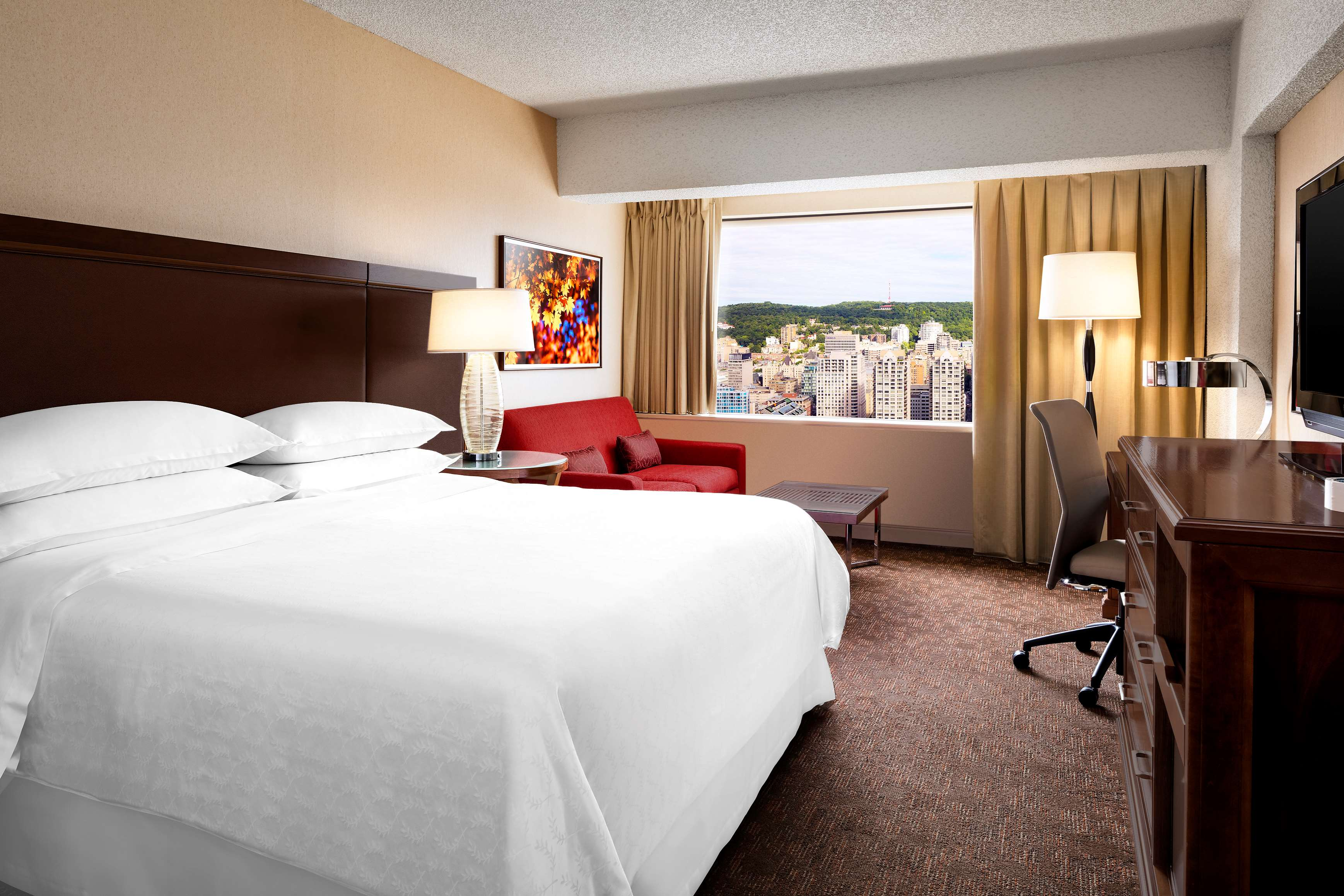 Le Centre Sheraton Montreal Hotel à Montreal: Chambre Club, lit king Club Room , King Bed Chambre, suite exécutive Bedroom, Executive Suite