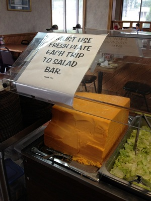 Home of the Best Salad Bar & the Biggest Block of Cheese in town!!!!