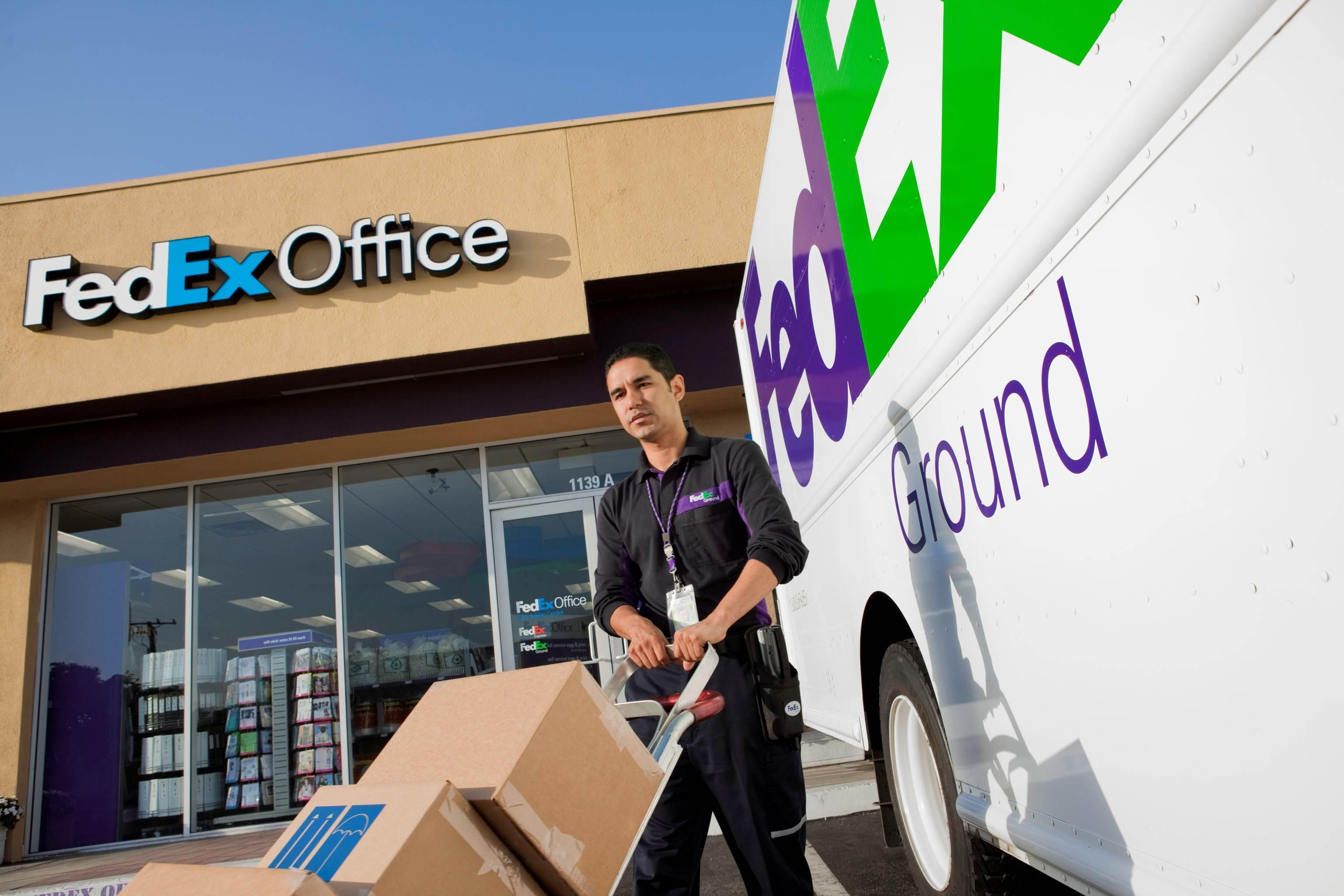 Drop off your FedEx packages.