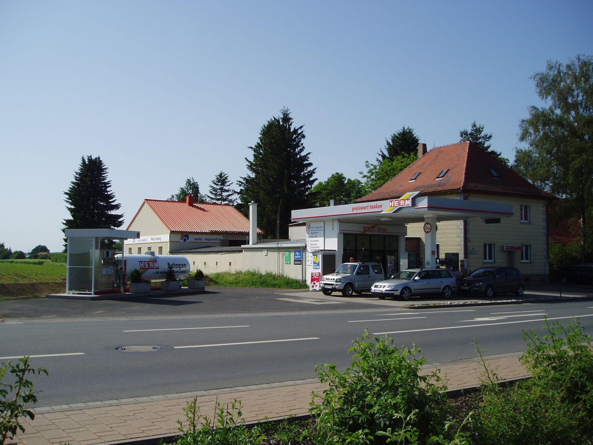 Bild der HERM Tankstelle Giebelstadt