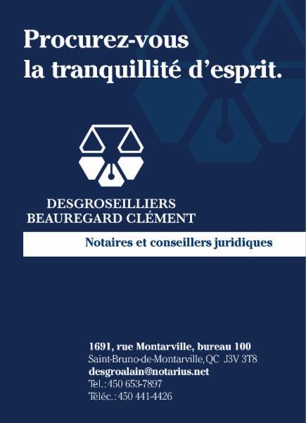Desgroseilliers et Associés Notaires Inc. à Saint-Bruno