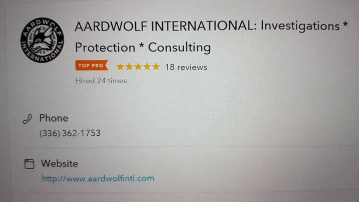 AARDWOLF INTERNATIONAL: Investigations * Protection * Consulting image 12