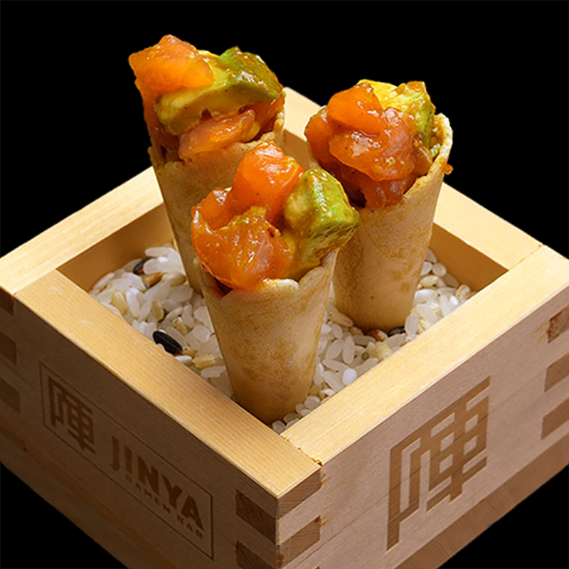 Click to expand image of Spicy Tuna and Salmon Cones