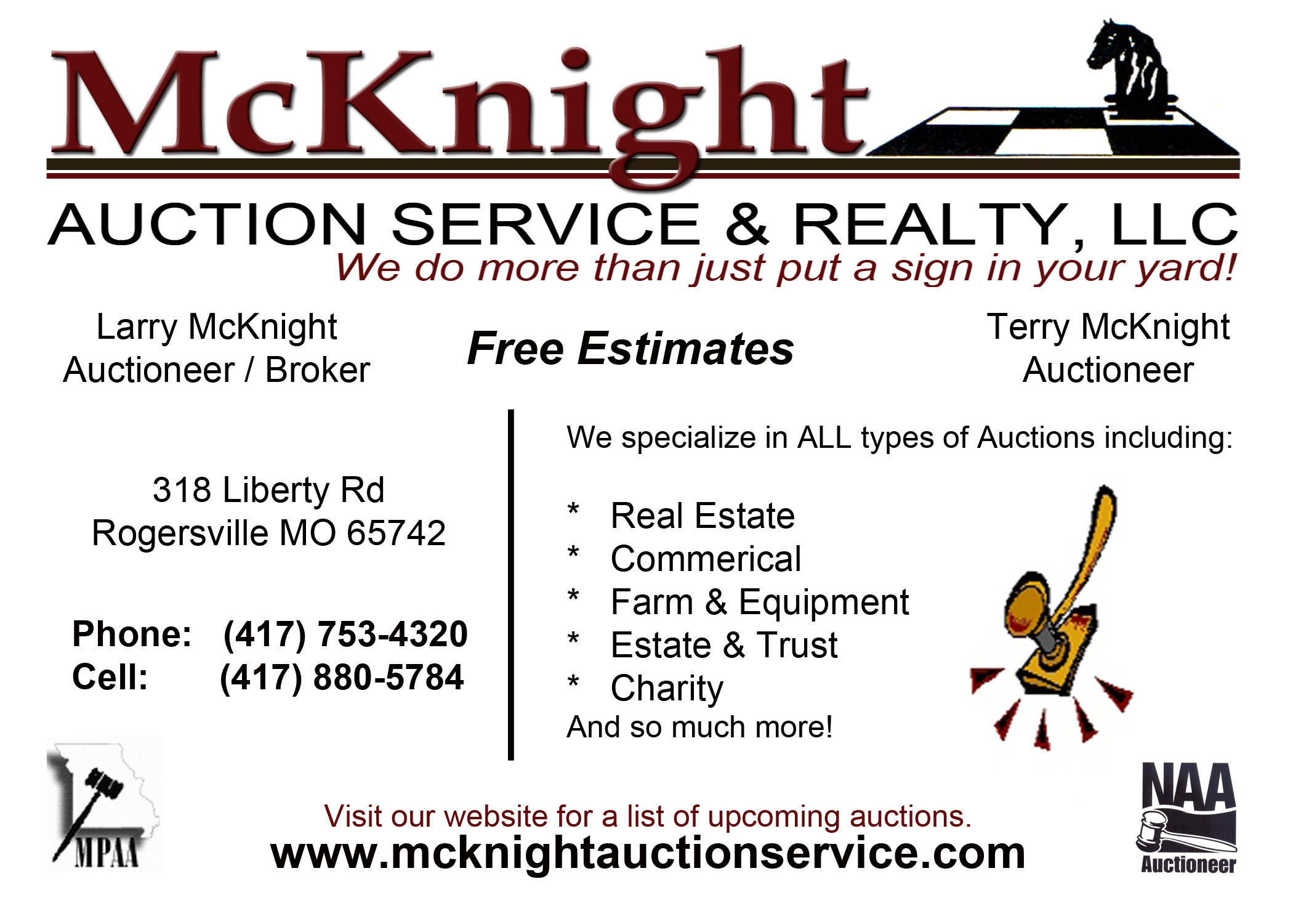 McKnight Auction Service & Realty, LLC image 0