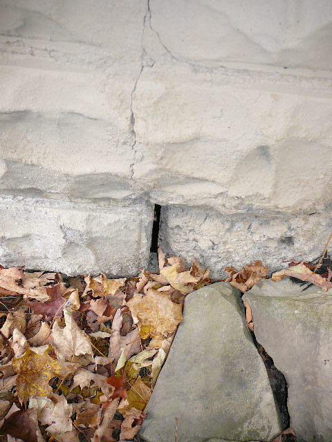 The opening should be filled in to prevent moisture from entering and freezing creating more damage to the wall. The inside of this wall showed signs of moisture intrusions.