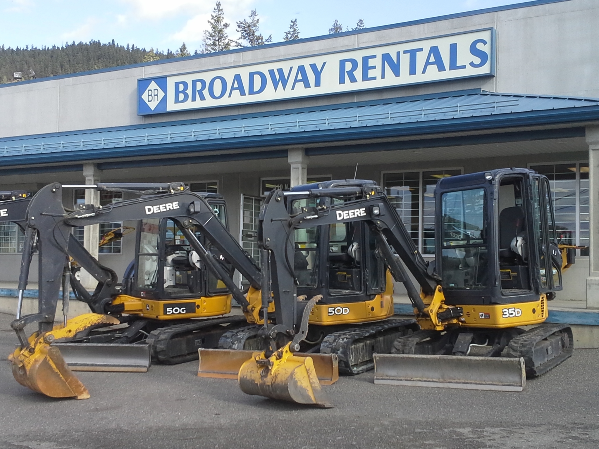 Broadway Rentals in Williams Lake: 3 mini excavators