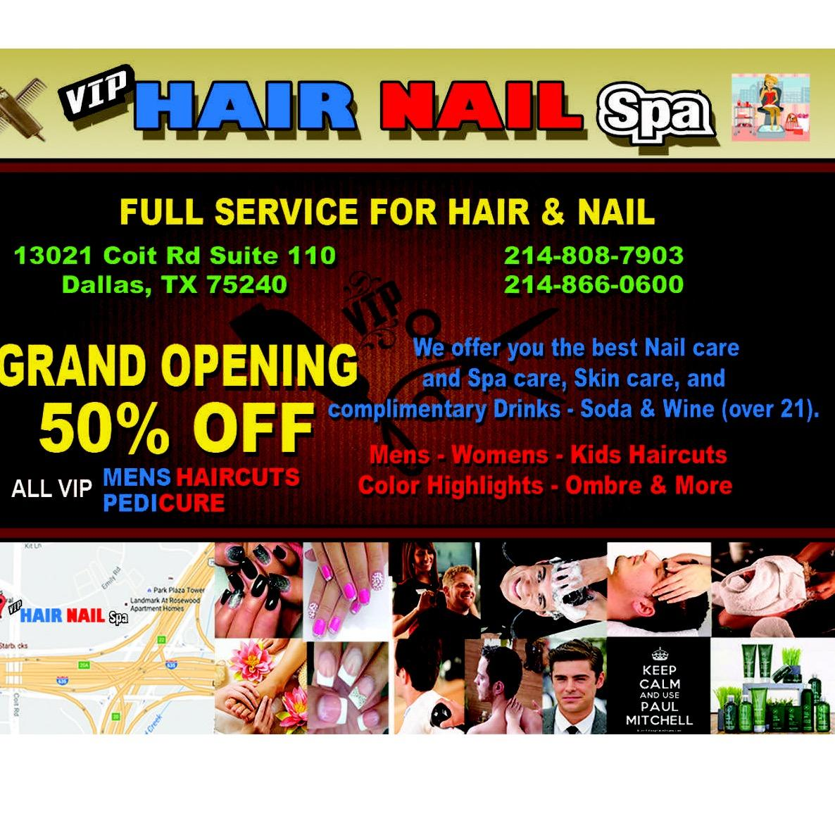 vip hair nail spa coupons near me in dallas 8coupons. Black Bedroom Furniture Sets. Home Design Ideas