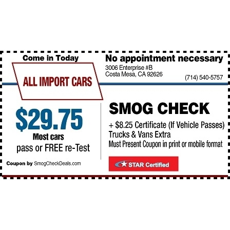 All Import Cars Smog Check Auto Repair image 3