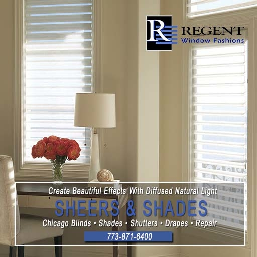 Sheers and shades Chicago by Regent Window Fashions.