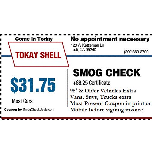 Tokay Shell Smog Check