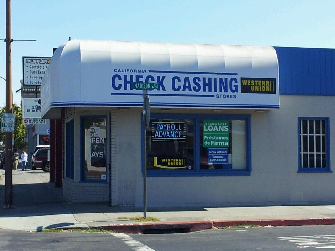 California Check Cashing Stores - ad image