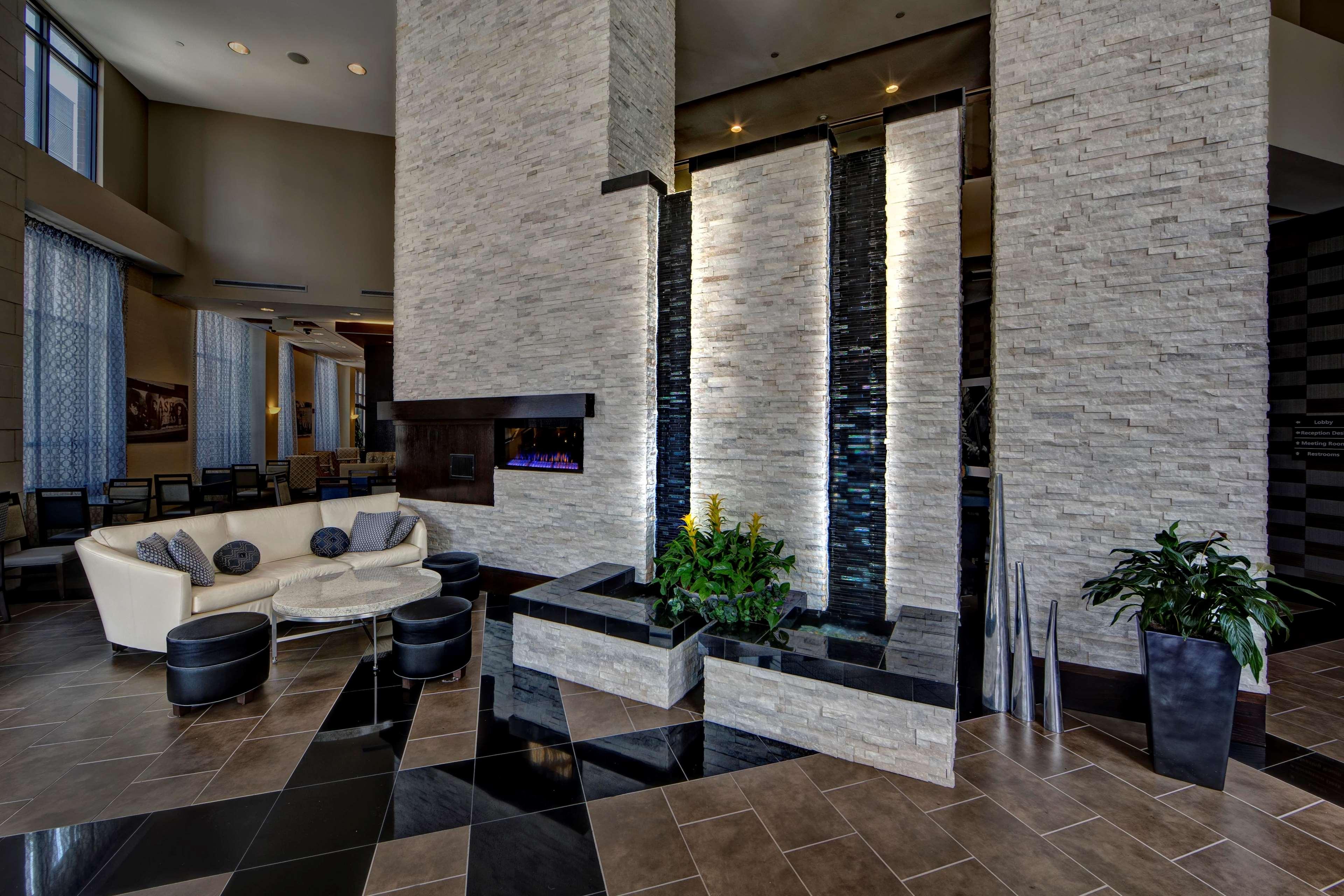 Waterfall at lobby
