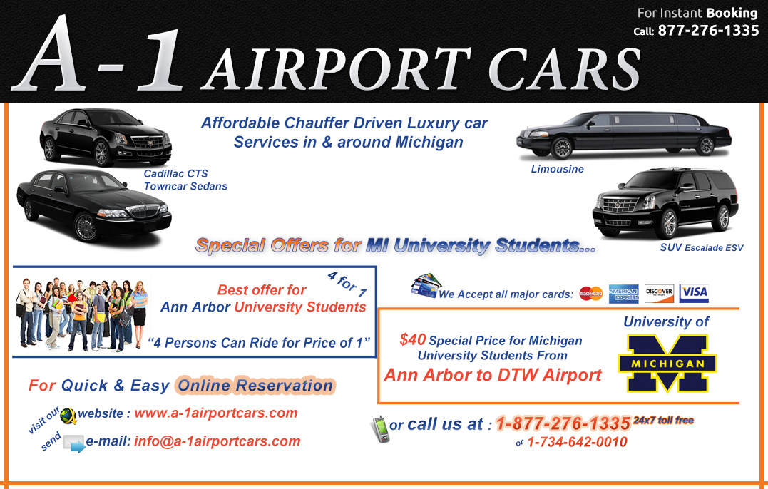 transporting 13000 Michigan Students  Every year  $49.00 Total fare From And To Ann Arbor