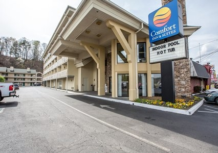 comfort inn suites at dollywood lane in pigeon forge tn. Black Bedroom Furniture Sets. Home Design Ideas