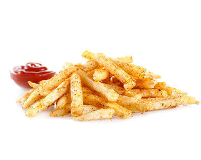 French Fries made by City Burger Co. with sauce on the side.