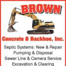 Brown's Concrete and Backhoe