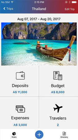 Preset your travel budgets with advanced deposits for you and your students.