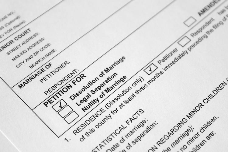 Self help divorce papers
