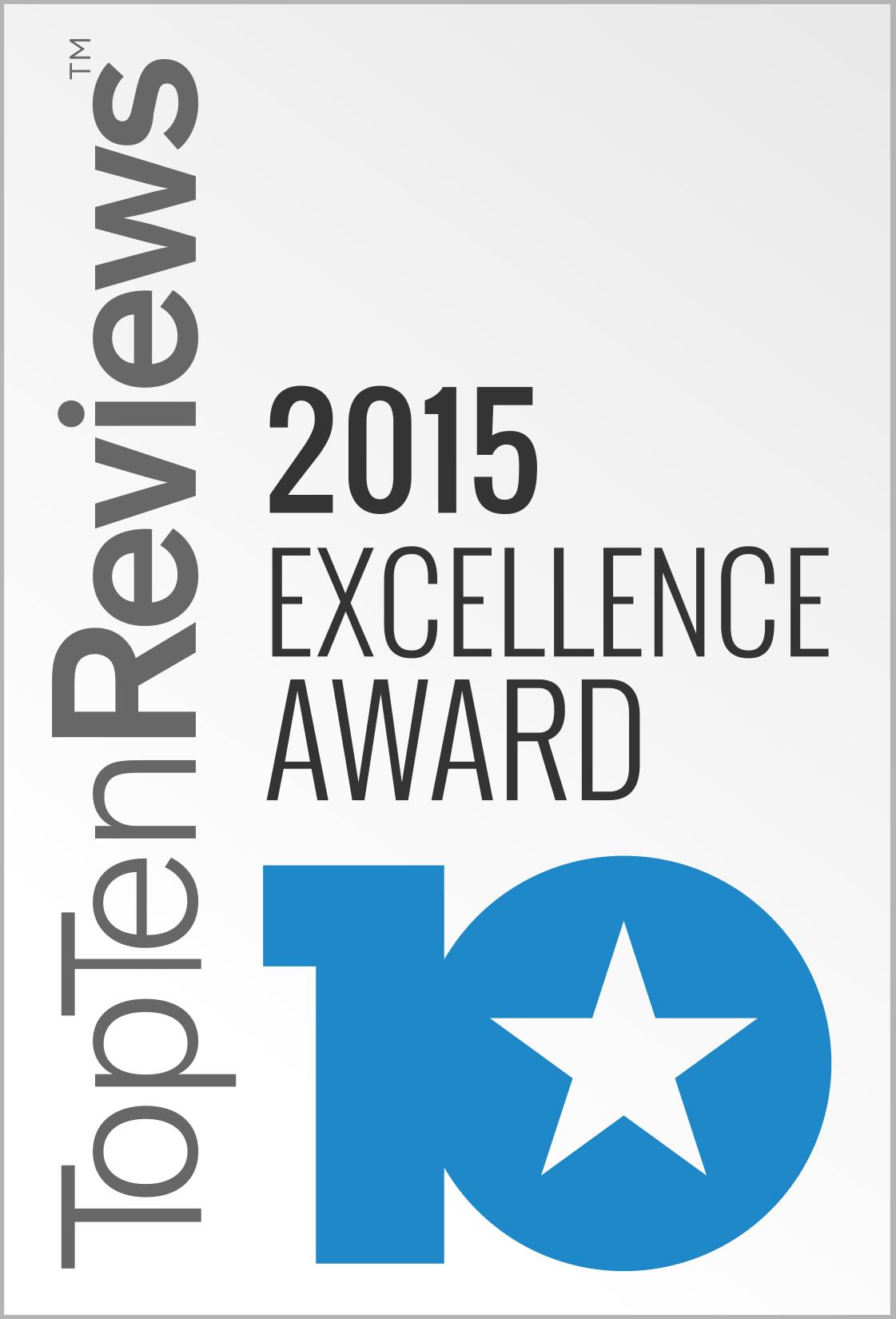 Top Ten Reviews 2015 Excellence Award