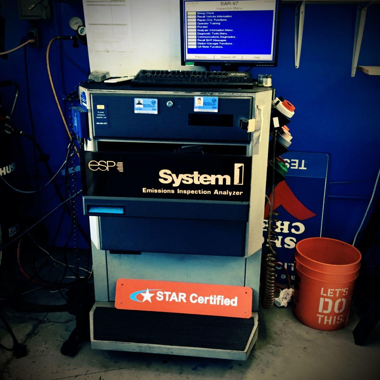 smog check machine