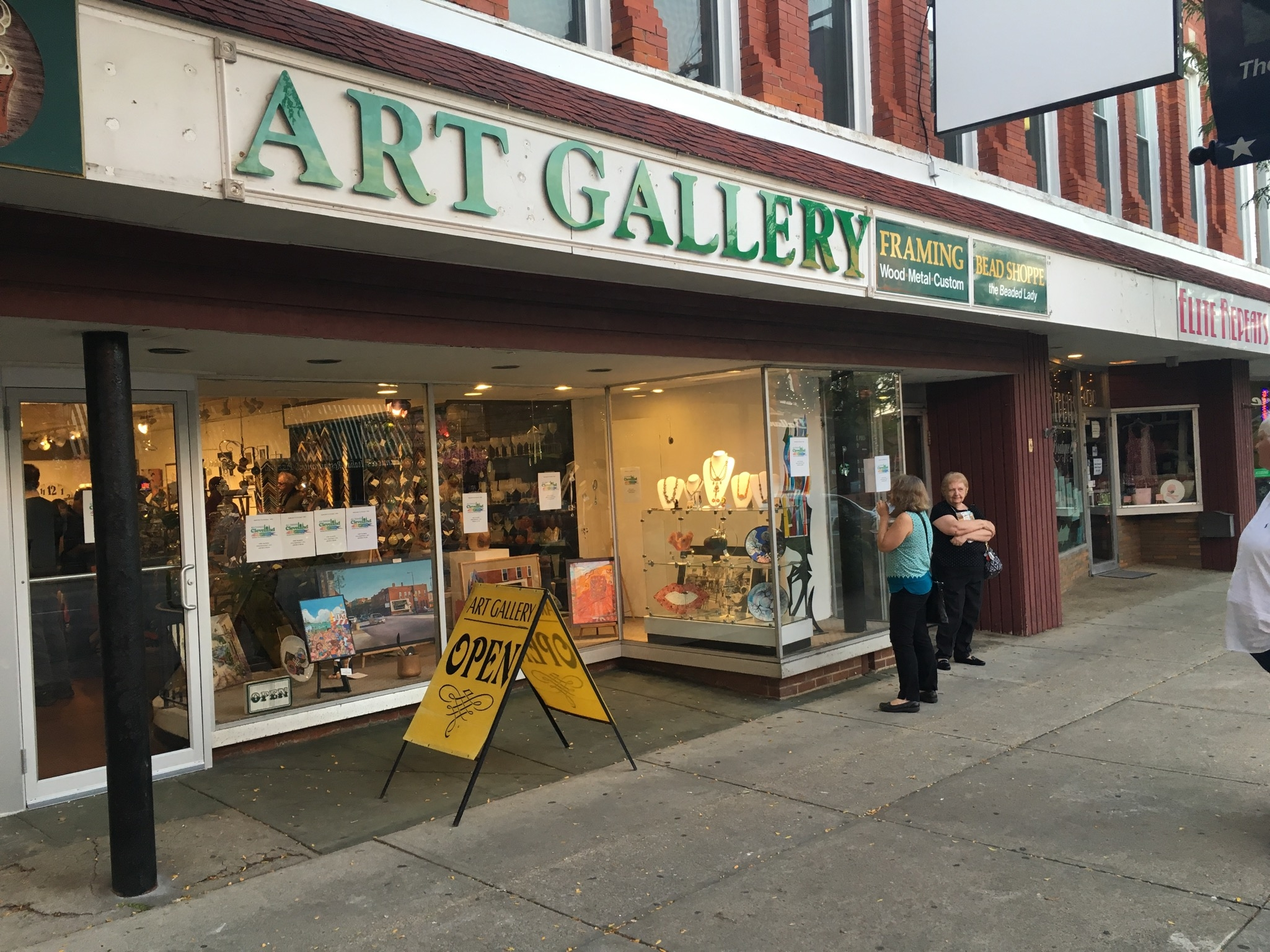 Our gallery, located at 4134 Erie St in Willoughby, OH.