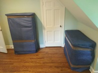 Items are quilt wrapped from top to bottom. All items are unwrapped after the move to ensure there is no damage during transport. Furniture is arranged according to the customers preference.