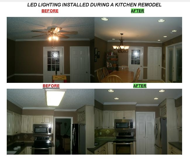 King Electrical Services, Inc.specializes in LED Lighting and can design your remodeling project to professionally maximize the areas potential. Check out this remodeling design and install project in Greensboro using LED Lighting.