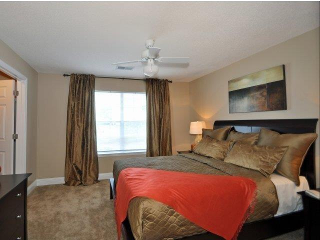 Comfortable Bedroom With Large Window