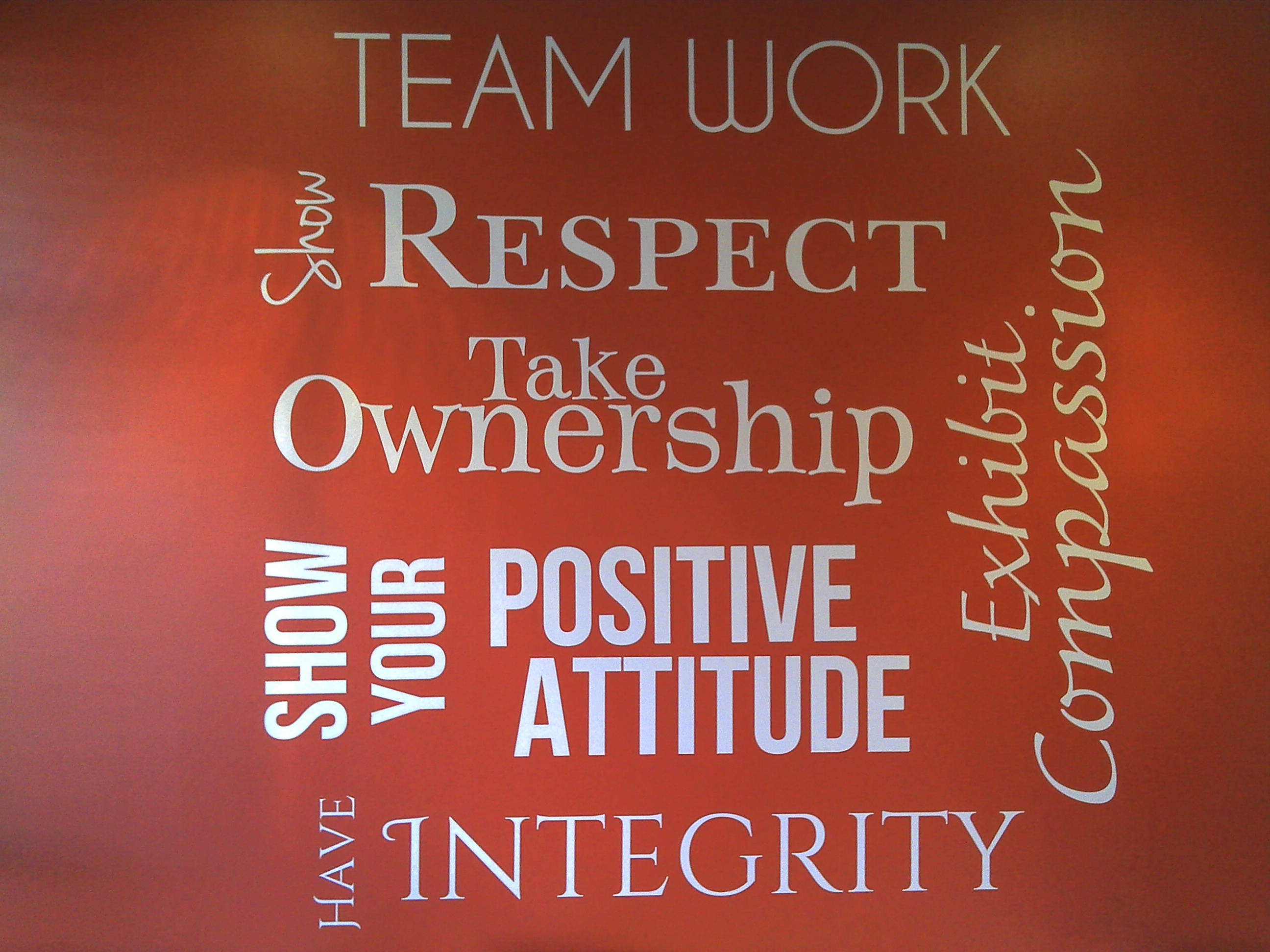 Phoenix Conference Room 'Values' Wall