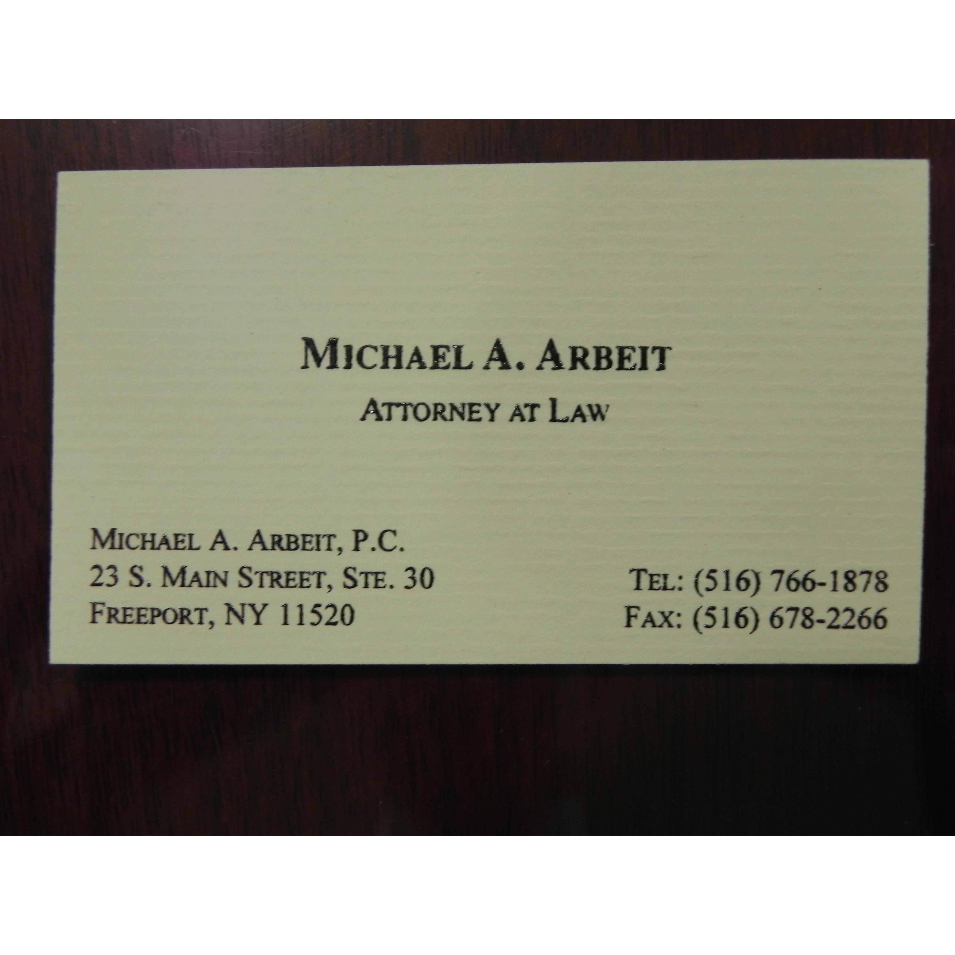 Michael A. Arbeit, P.C