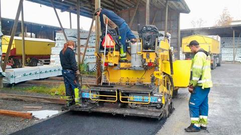 Läggning av återvunnen asfalt