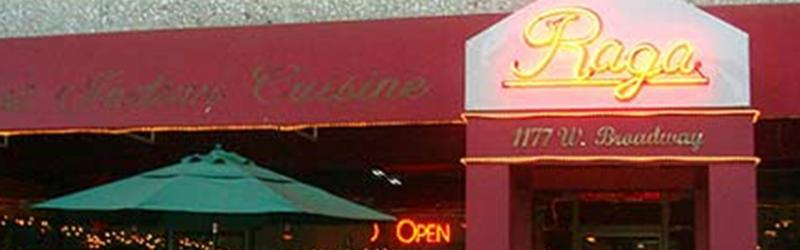 Raga Restaurant in Vancouver