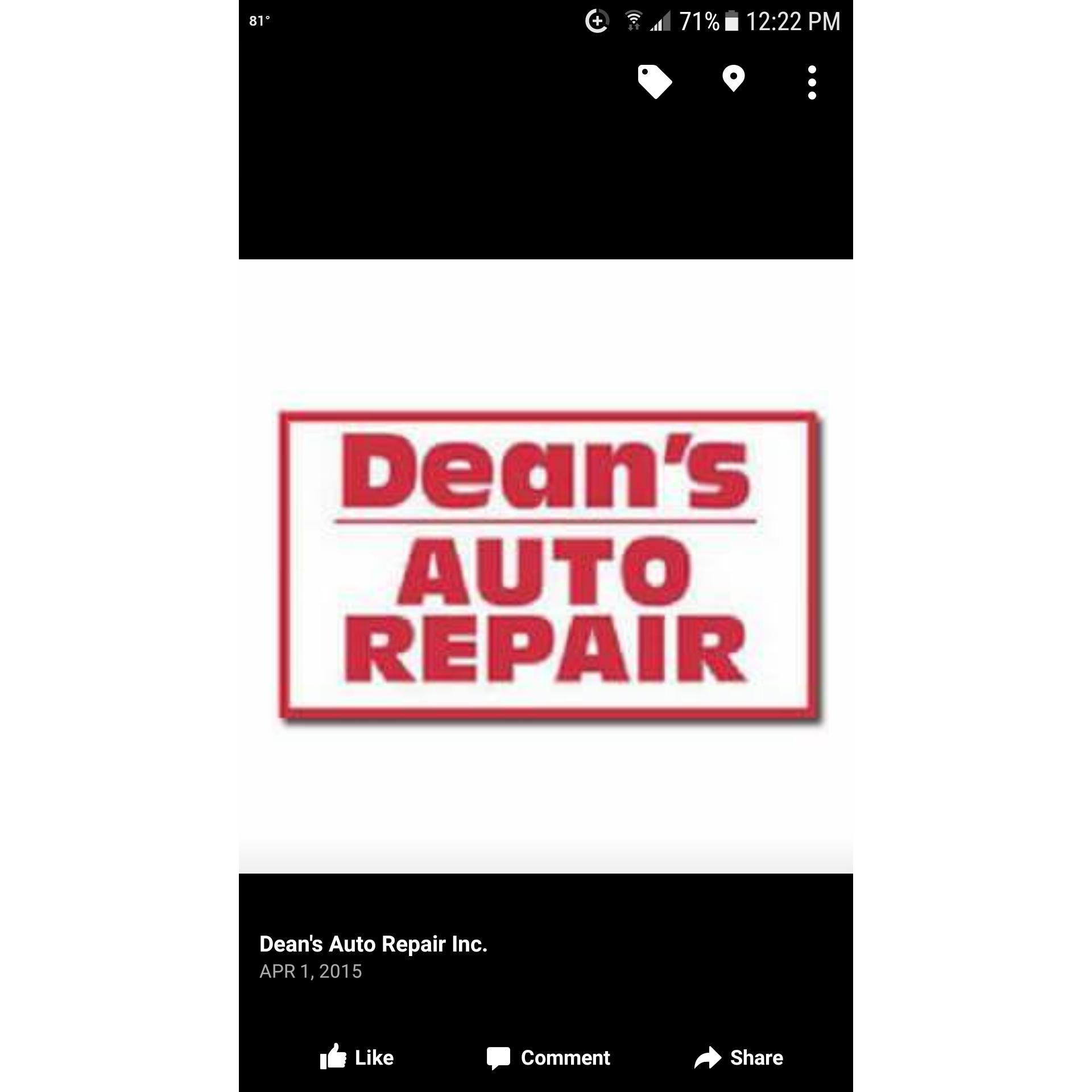 Dean's Auto Repair Inc