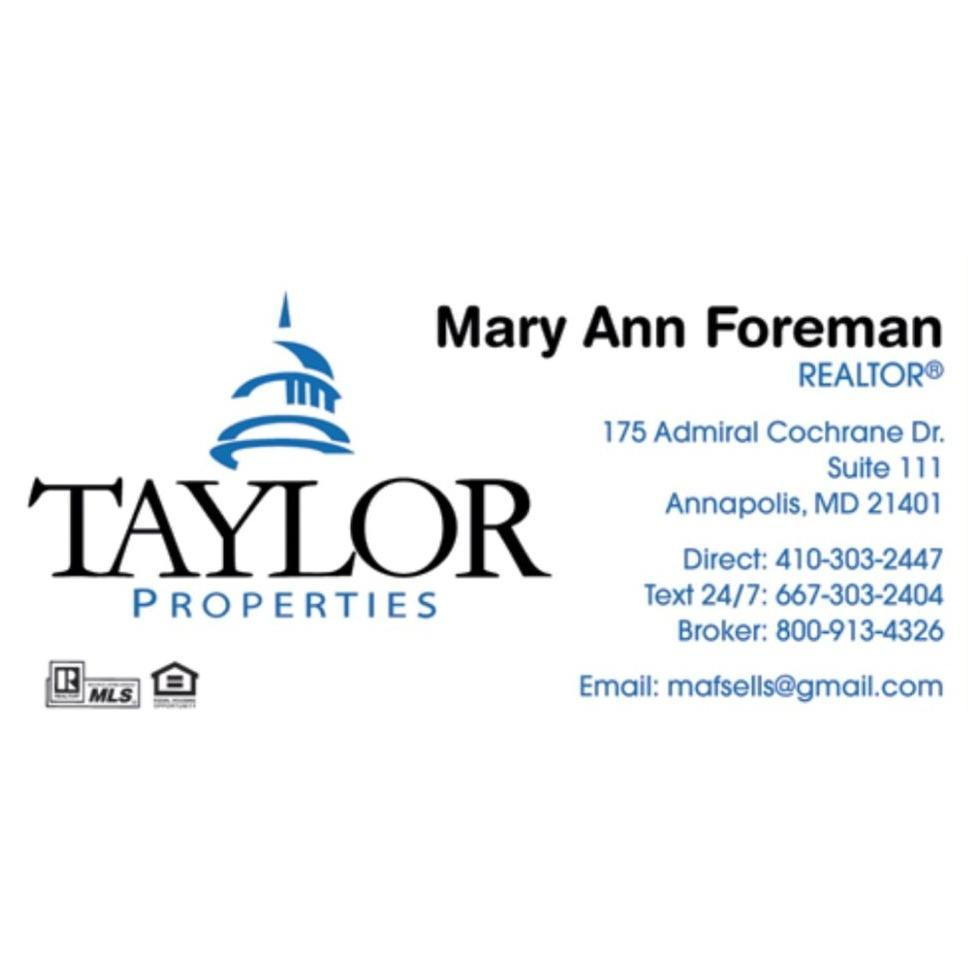 Mary Ann Foreman-Taylor Properties