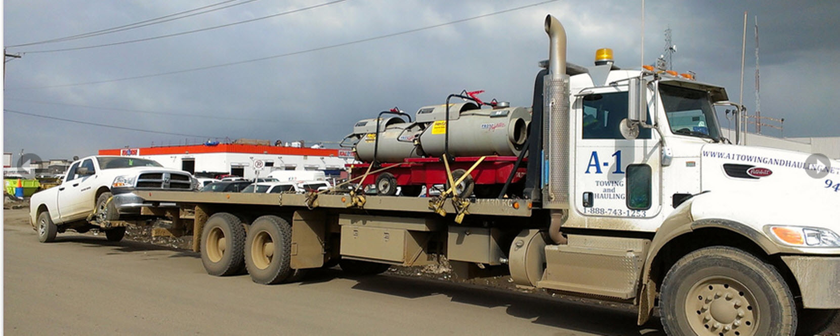 A-1 Equipment Hauling & Towing in Fort McMurray: Equipment Towing