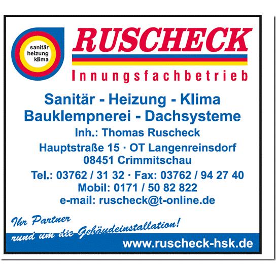 Logo von Sanitär-Heizung-Klima-Bauklempnerei Innungsfachbetrieb Ruscheck