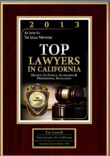 Listed in The Legal Network's Top Lawyers In California.
