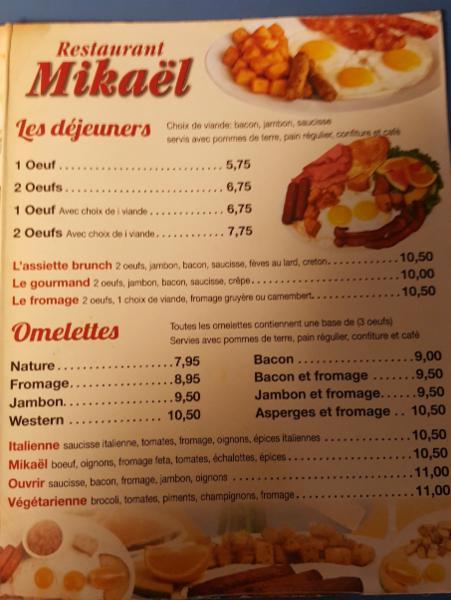 Restaurant Mikael à Sainte-Agathe-des-Monts
