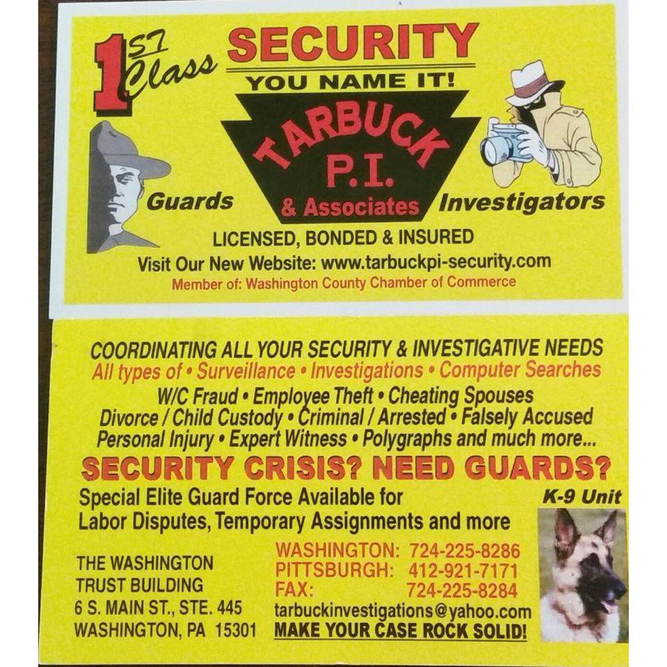 Tarbuck P.i.  and  Associates Detective Agency