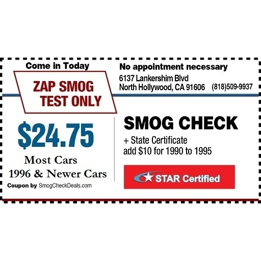 image of the ZAP Smog Test Only Center