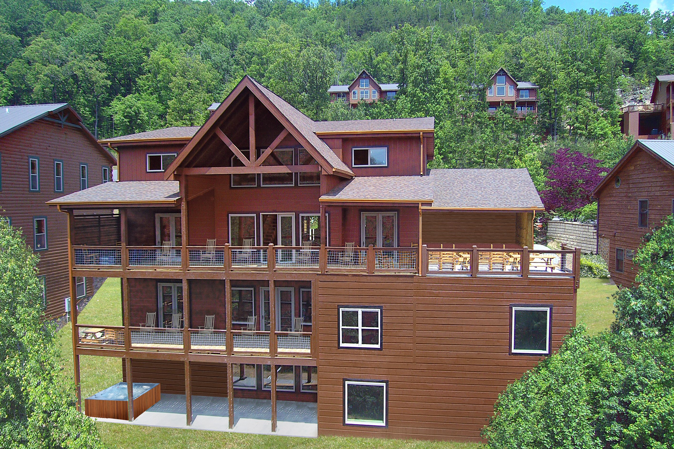 cabin tn secluded cabins with pigeon pool for rent indoor private s gatlinburg friendly pet rentals forge rental in