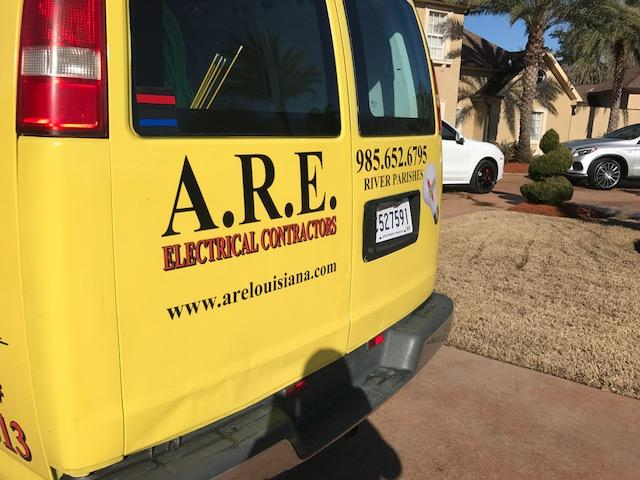 At A.R.E. Louisiana we pride ourselves on quality work and honest business practices. We are reliable, we finish jobs on schedule and our Electricians will leave your home or business the way they fou