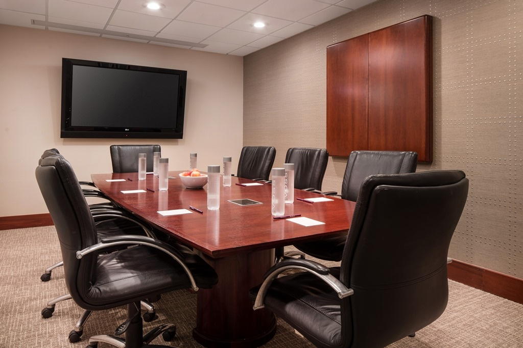 Boardroom - Intimate meetings, interviews and training sessions are perfect events to host in our 234-square-foot boardroom. Enhance your gathering with our catering and AV services.