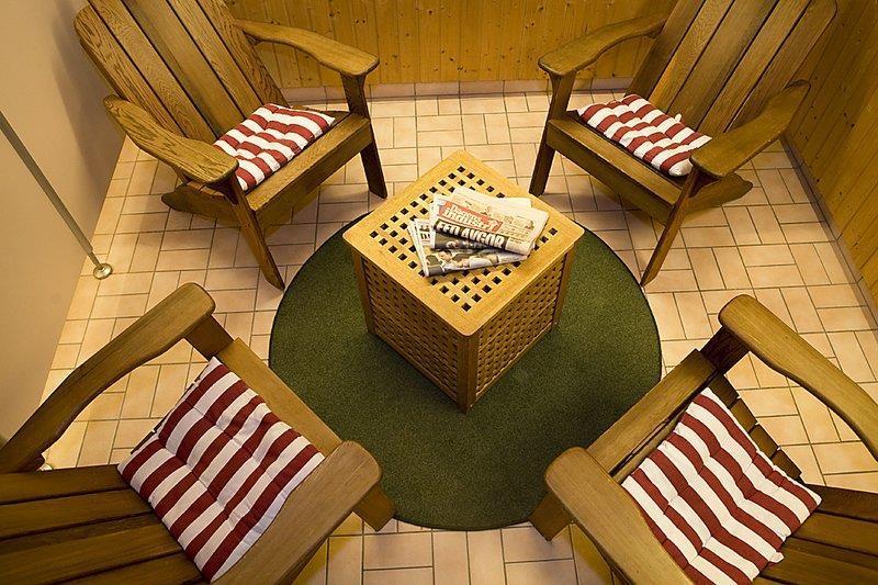 Relax Area outside Sauna